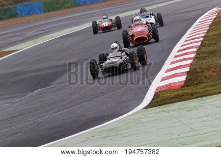 Magny-cours, France, July 2, 2017 : Lotus 21 And Maserati 250F Racing. The First French Historic Gra