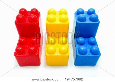 Children's Colorful Connector Toys, Isolated On A White Background