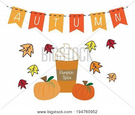 Autumn Pumpkin Pie Spice Coffee with Bunting