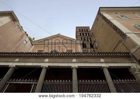 San Lorenzo in Lucina ancient Roman basilica in Rome Italy