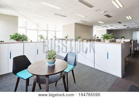 interior of modern small meeting room