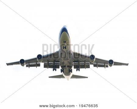 Isolated airplane poster