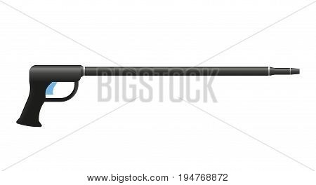 Underwater speargun. Harpoon vector illustration on white background