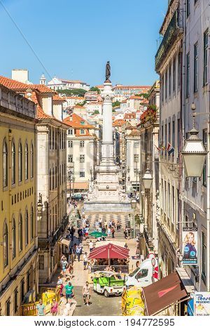 LISBON,PORTUGAL - MAY 17,2017 - In the streets of Lisbon. Lisbon is the capital of Portugal.