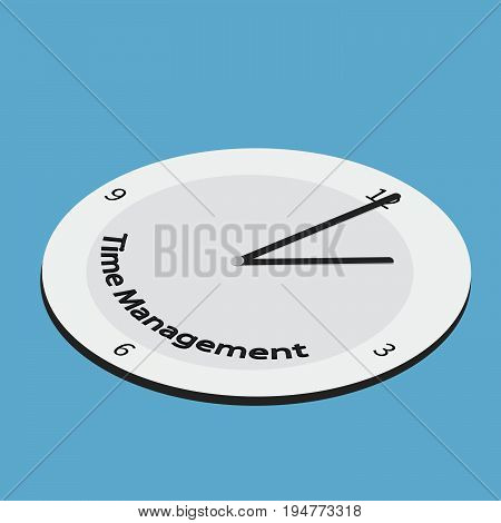 Time management vector concept. Isometric watch for time management business infographic. -stock vector