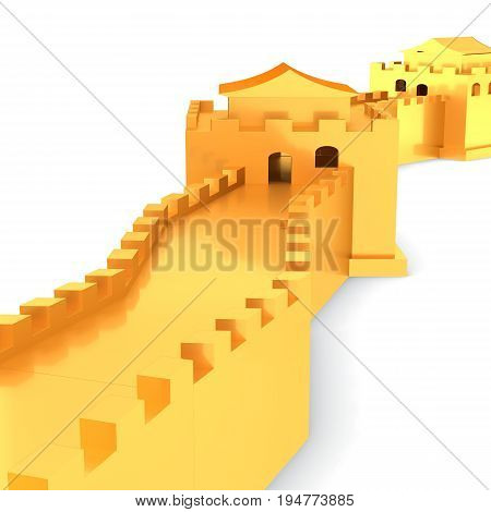 3D Golden Great Wall Of China