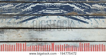 Digitally generated image of abstract pattern against wood background