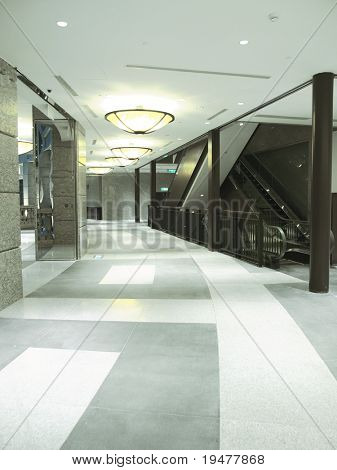 Corridor in shopping mall