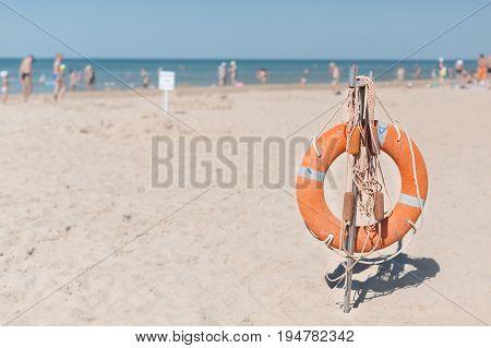 safety Torus on the beach Horizontal Toned