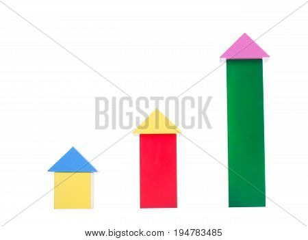 Multi-colorful wooden cube building blocks. Many different multi-colored wooden cubes, isolated on a white background. Creative wooden toys for children.