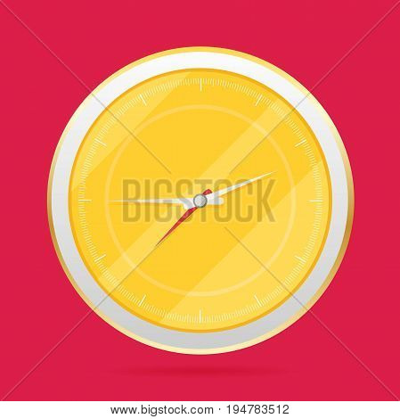 Vector Picture Of Round Analog Clock Face, Watch.