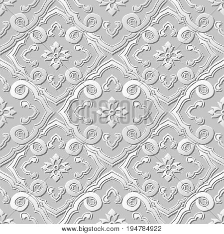3D Paper Art Pattern Curve Spiral Cross Chain Flower