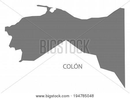 Colon Honduras map grey illustration silhouette shape