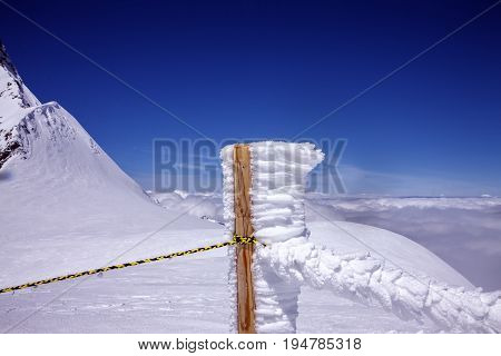 Jungfrau mountain  , Jungfraujoch. Location in Switzerland. Country, Switzerland .