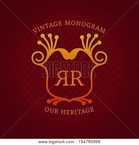Vintage Monogram Template Design