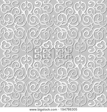 3D Paper Art Pattern Round Spiral Cross Chain Vine