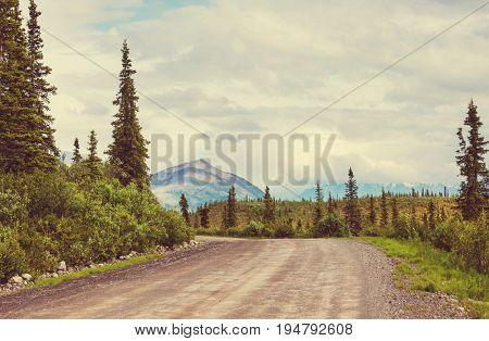 Highway in Alaska, United States