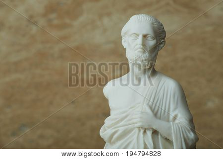 Statue of Hippocrates , ancient Greek physician.