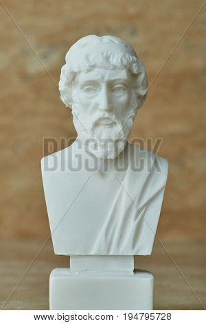 Statue of the ancient Greek philosopher Plato.
