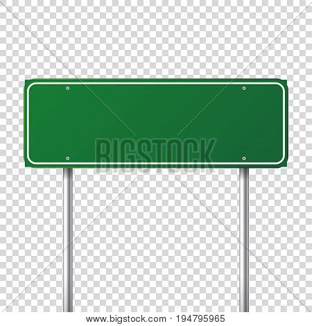 Road traffic sign. Blank board with place for text.Mockup. Isolated information sign. Direction. Vector illustration.