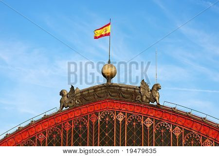 Roof of atocha railway station, Madrid