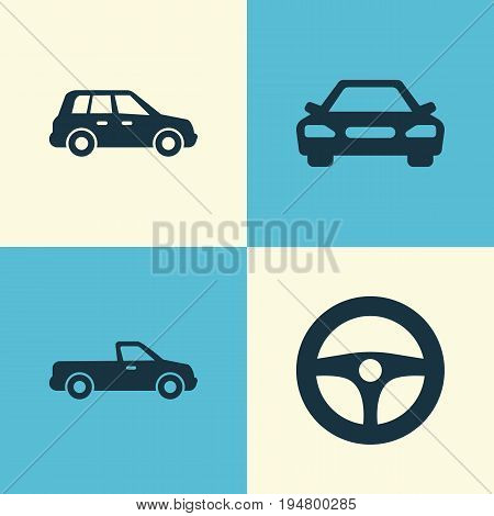 Auto Icons Set. Collection Of Auto, Drive Control, Car And Other Elements. Also Includes Symbols Such As Control, Car, Auto.