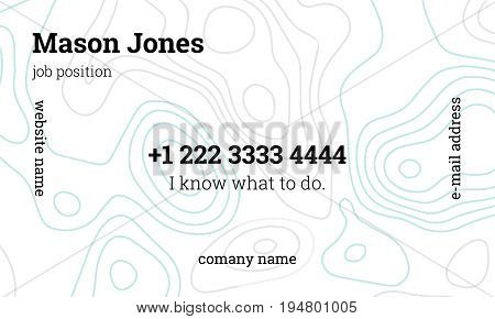 Mint and gray business card template. US standard size 3.5x2 in. With bleed size 0.125 in. Vector. Minimal and easy style. The abstract creative concept.