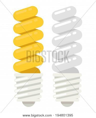 Energy saving Light Bulb Icon. Flat style.