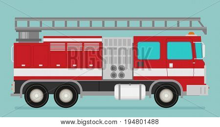 Fire truck rescue engine transportation. Firefighter emergency.