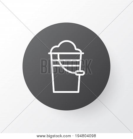 Pail Icon Symbol. Premium Quality Isolated Bucket Element In Trendy Style.