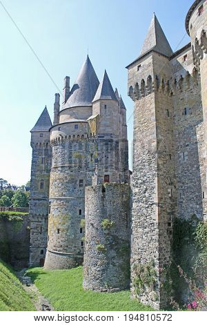 exterior walls of Vitre Castle in France