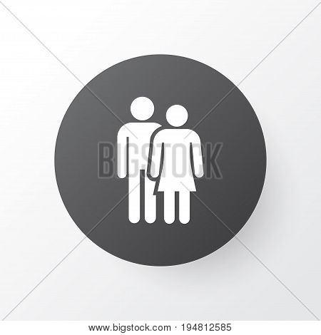 Couple Icon Symbol. Premium Quality Isolated Beloveds Element In Trendy Style.