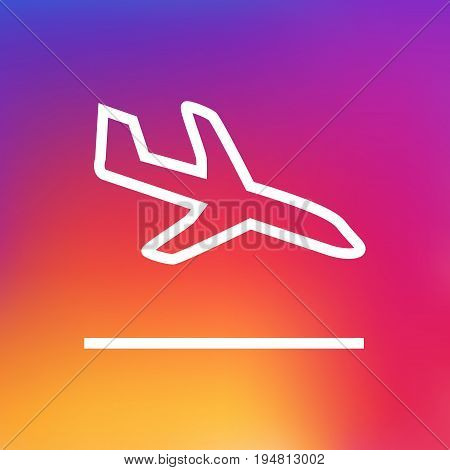 Isolated Landing Outline Symbol On Clean Background. Vector Sit Element In Trendy Style.