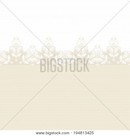 Simple vector background and border. Oriental floral pattern.