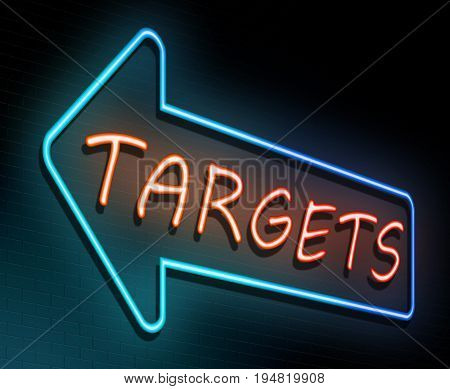 Targets Neon Concept.