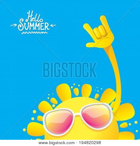 hello summer rock n roll poster. summer party design template