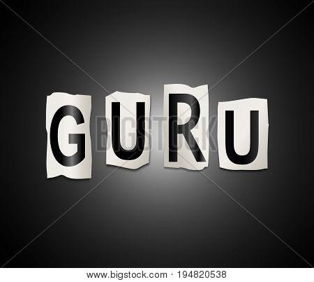 Guru Word Concept.
