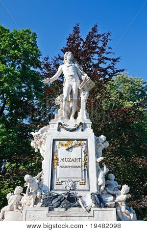 Statue of Wolfgang Amadeus Mozart in Burggarten, Vienna