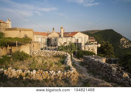 Small village of Lubenice Cres Island Croatia.