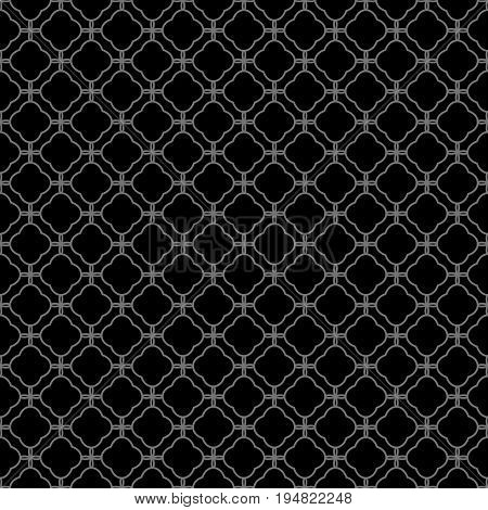 Antique Seamless Silver Background Curve Cross Line