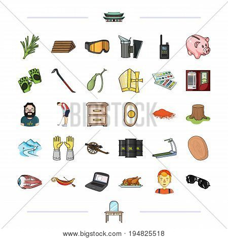cooking, medicine, ecology and other  icon in cartoon style. and other  icon in cartoon style. icons in set collection.