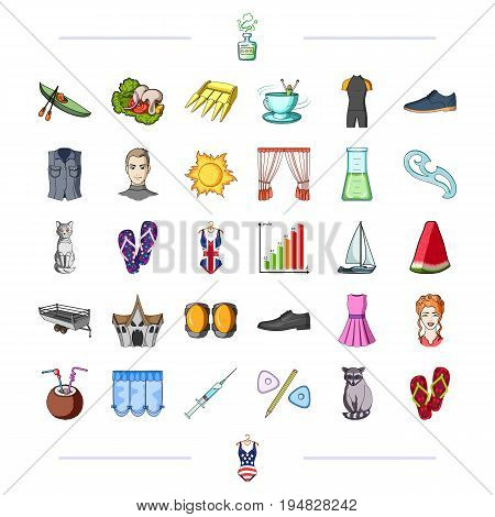 , cooking, sports, traveling and other  icon in cartoon style., sea, tourism, textiles, icons in set collection.