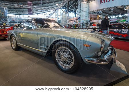 STUTTGART GERMANY - MARCH 17 2016: Grand tourer car Maserati Sebring Series I 1963. Europe's greatest classic car exhibition