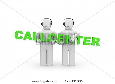 Call-center. 3d illustration