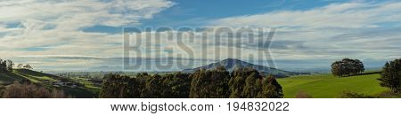 Panoramic of New Zealand landscape
