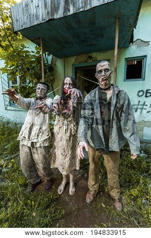 Attack Zombies, Zombies Tied On The Porch