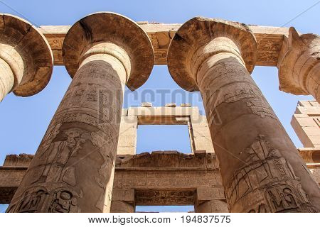 Luxor temple, Egypt. This was the largest temple complex of Amun-Re God in ancient Thebes town.