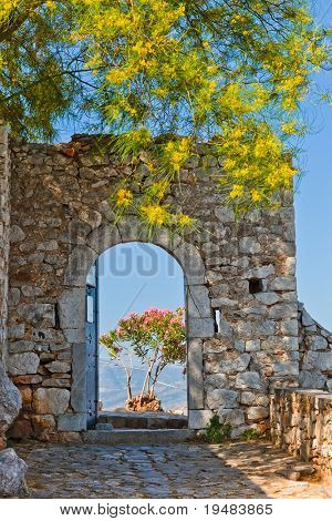 Gate in Palamidi fortress, Nafplio, Greece poster