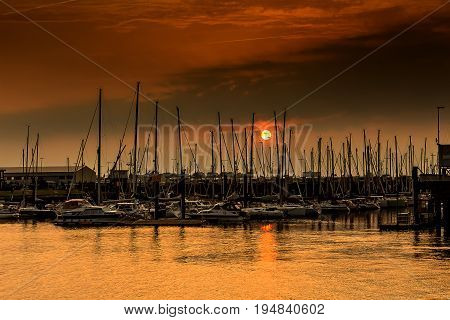 A harbor in Cuxhaven in a romantic mood