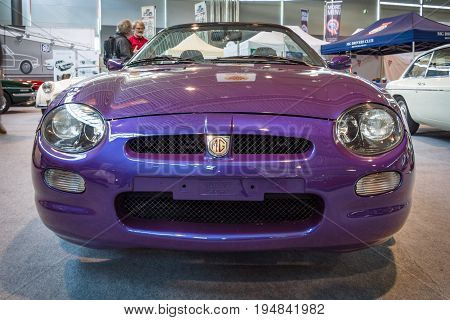 STUTTGART GERMANY - MARCH 18 2016: Roadster MG F Mark I. Europe's greatest classic car exhibition